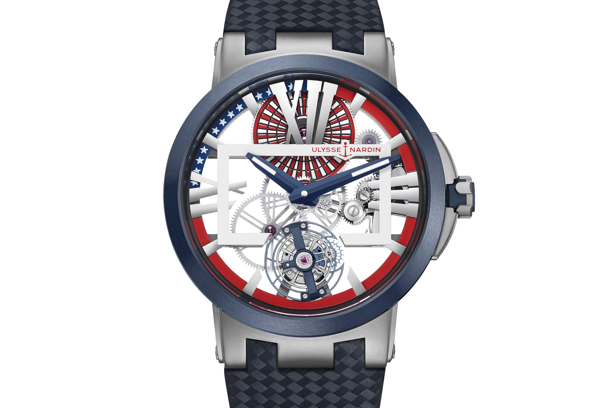 Ulysse Nardin Executive Skeleton Tourbillon Stars and Stripes Limited Edition