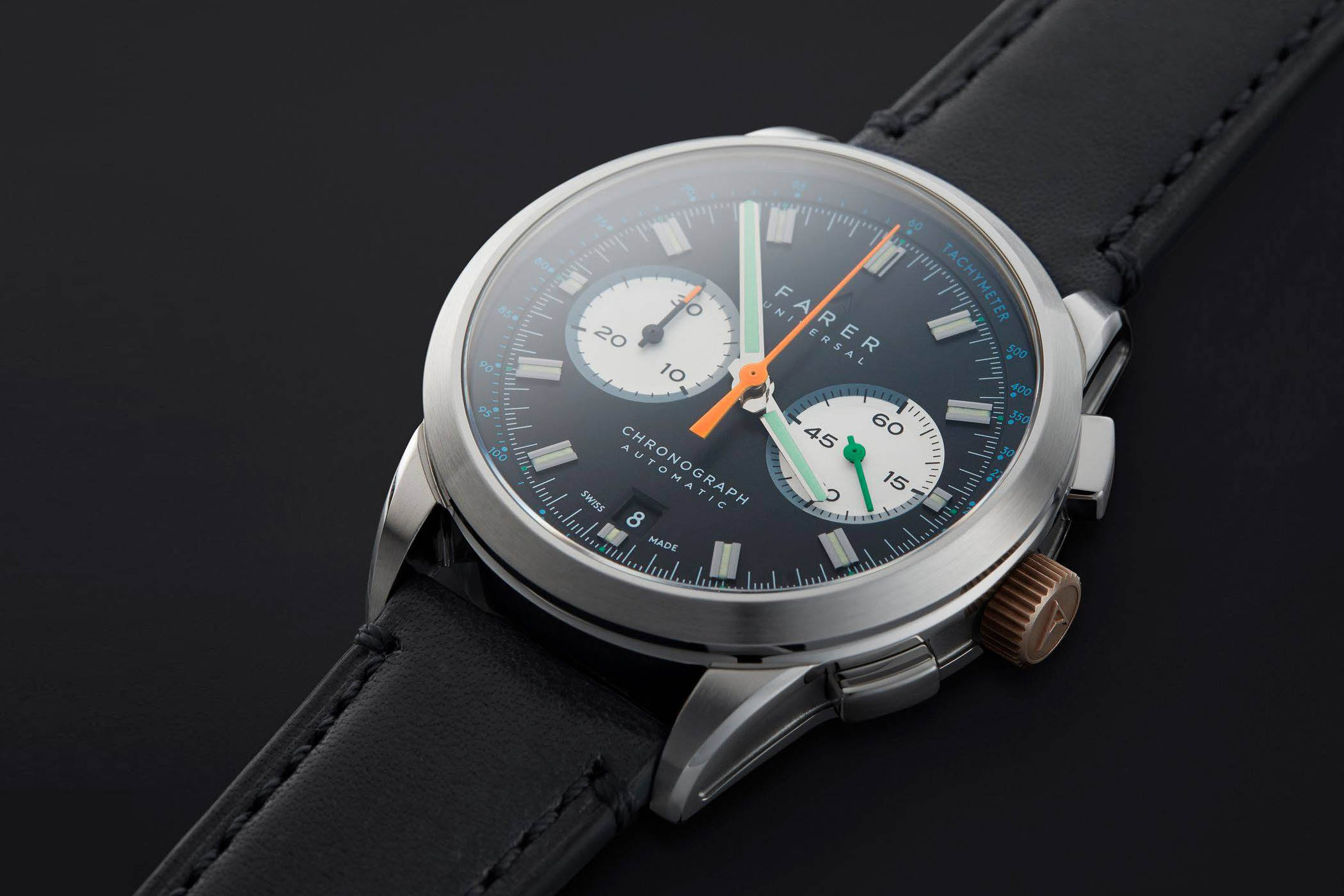 introducing farer automatic chronograph series cobb eldridge and
