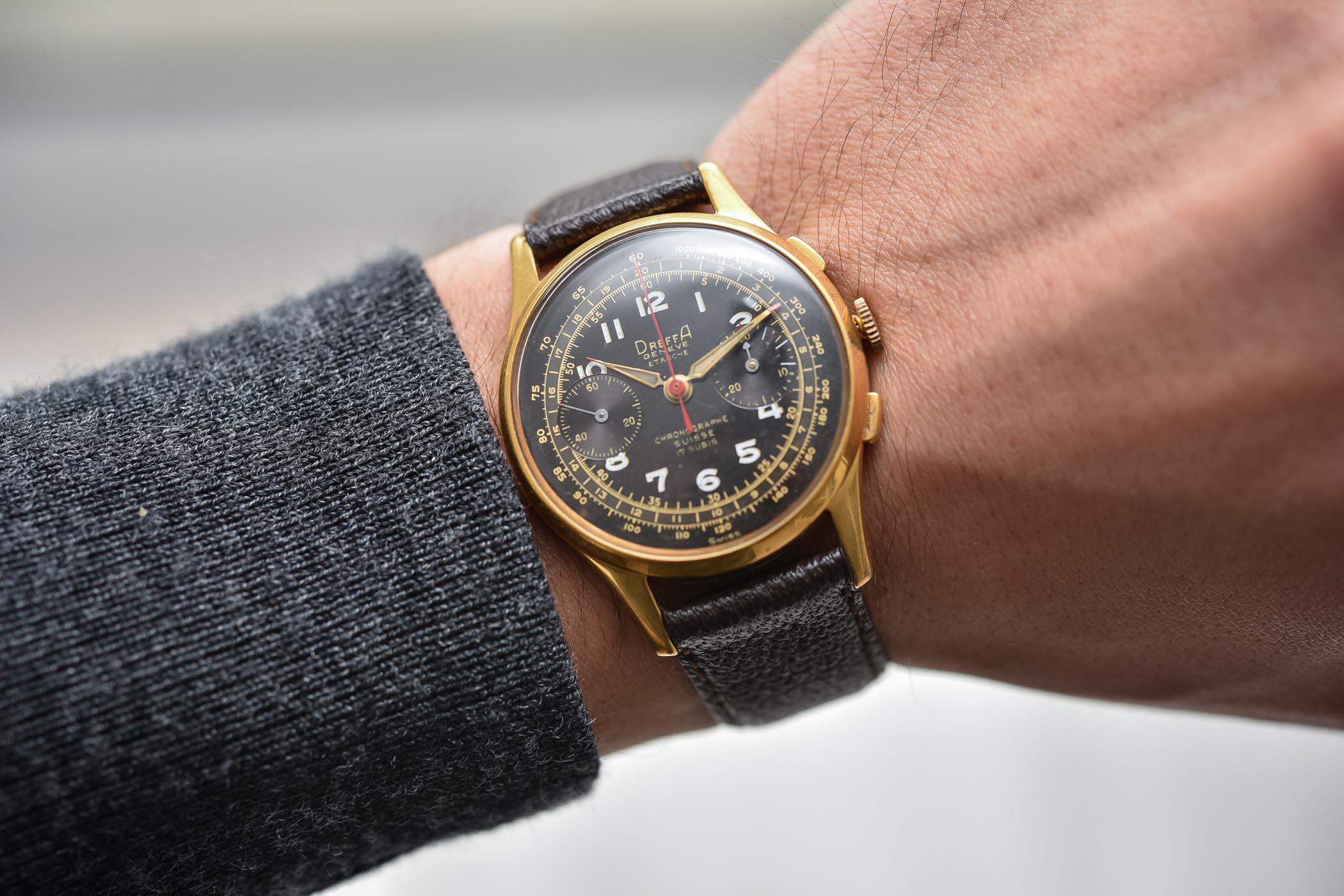 History of Chronographe Suisse Landeron Dreffa Ultimor Olympic - 1