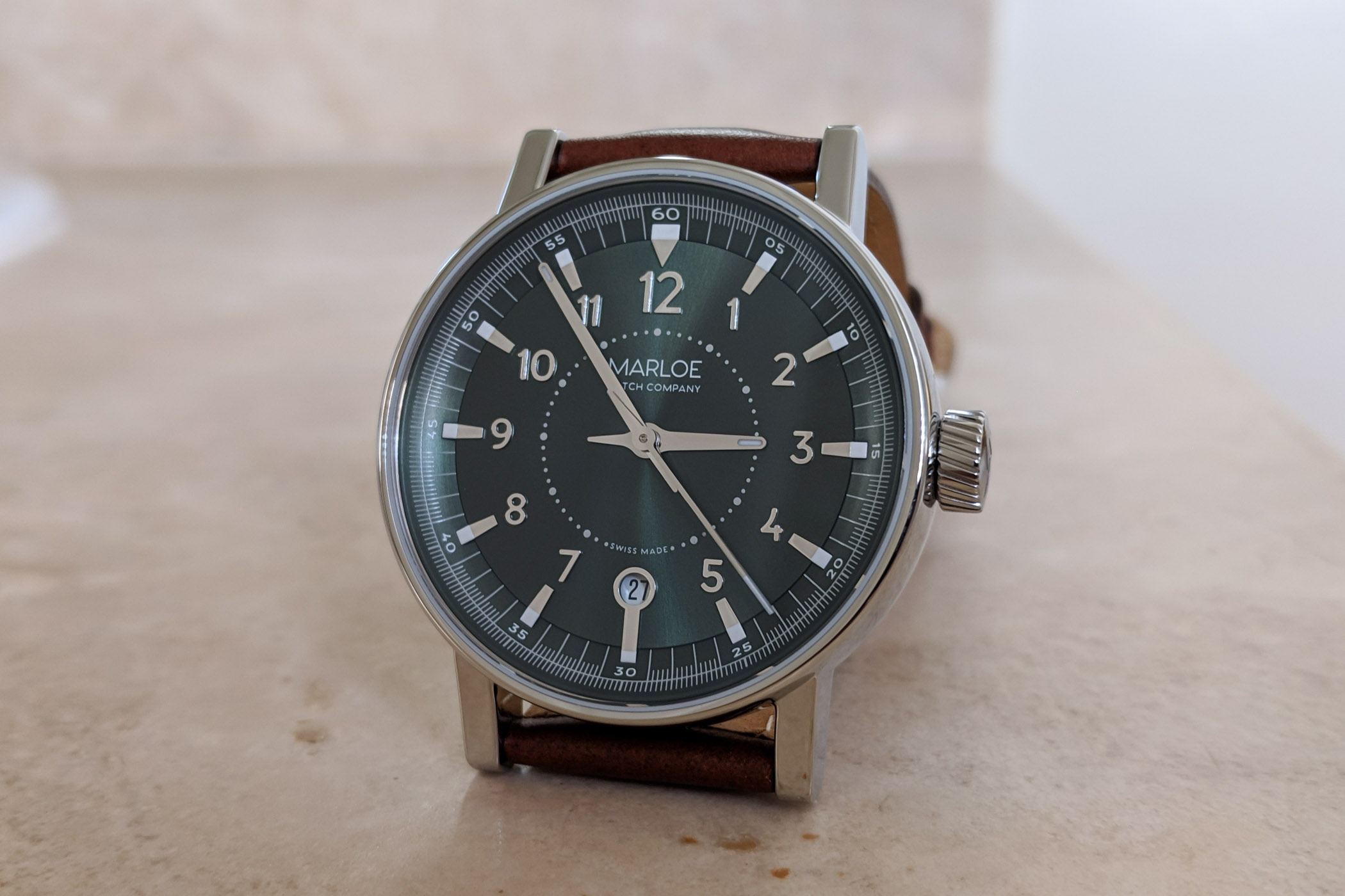 Marloe Watch Company Haskell hand-wound ETA