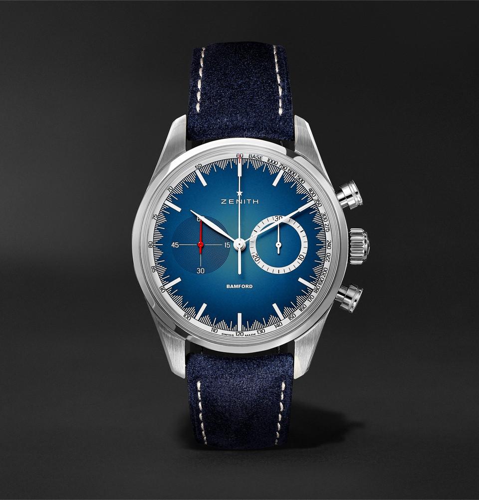 Zenith x Bamford Chronomaster El Primero Solar Blue Limited Edition for MR. PORTER- 1
