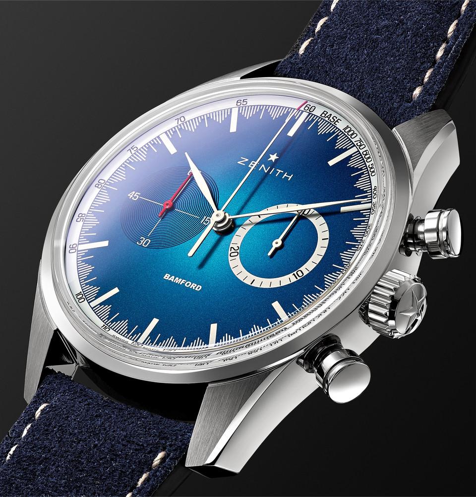 Zenith x Bamford Chronomaster El Primero Solar Blue Limited Edition for MR. PORTER- 2