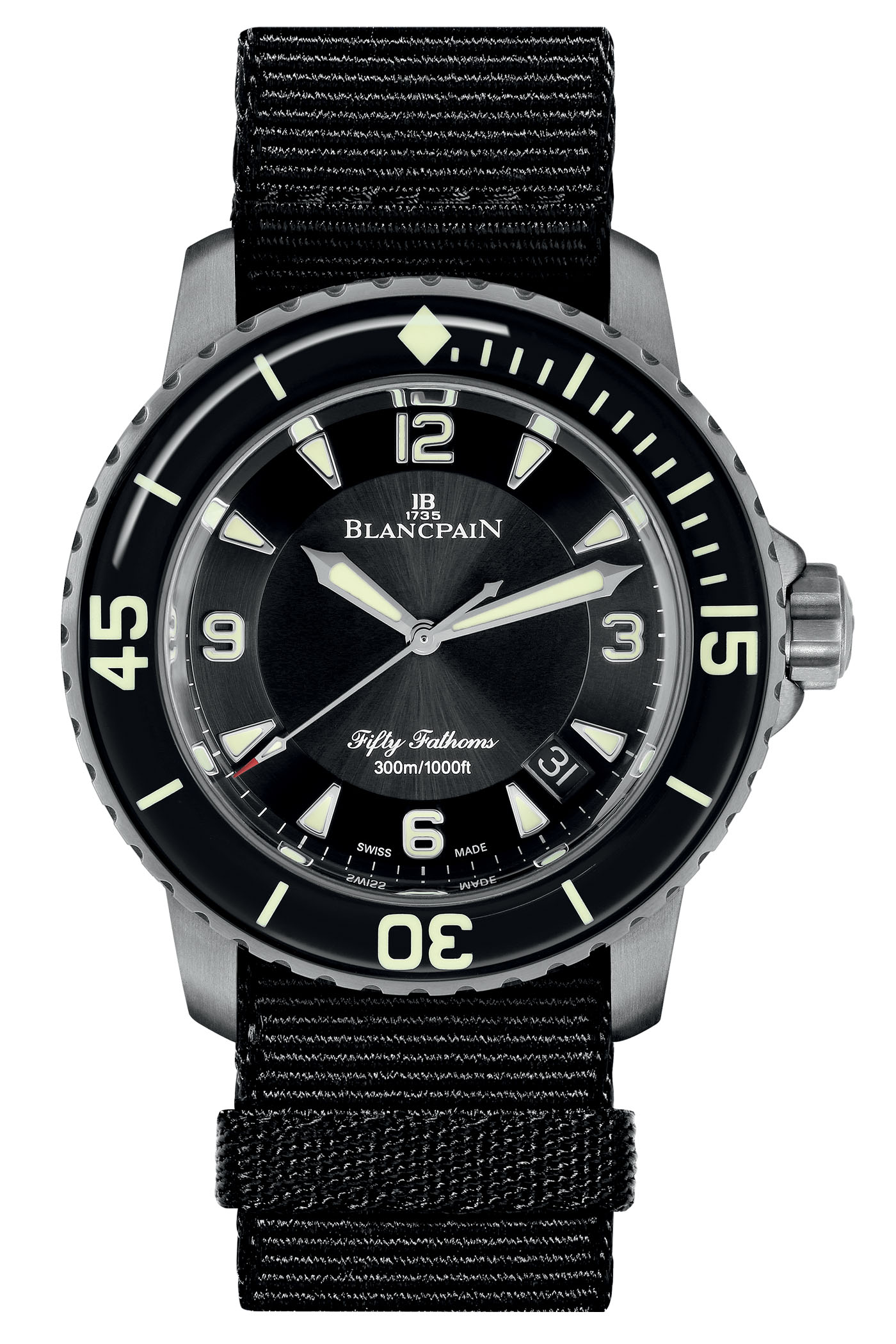 Blancpain's new Fifty Fathoms Automatique in Titanium Blancpain-Fifty-Fathoms-Automatique-5015-Titanium-1