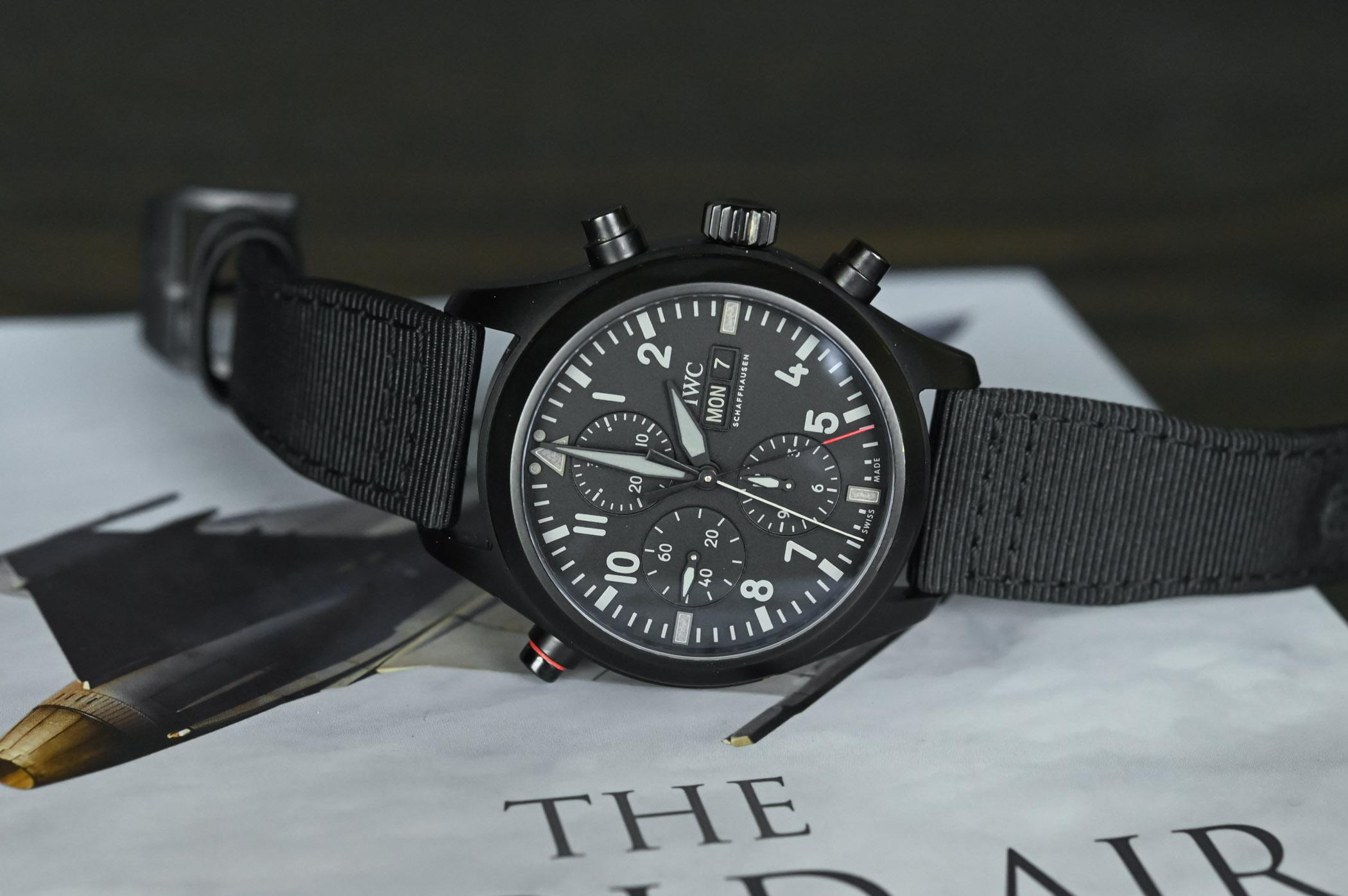 IWC Pilots Watch Double Chronograph TOP GUN Ceratanium IW371815 - SIHH 2019 - 15