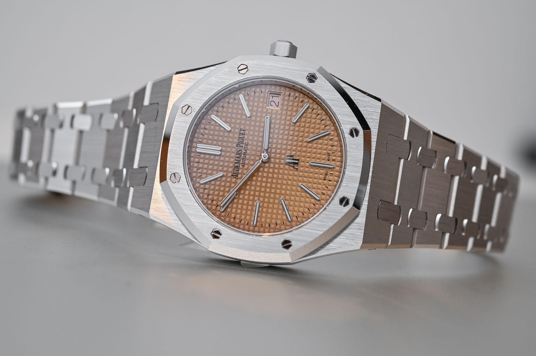 Audemars Piguet Royal Oak Jumbo Extra-Thin salmon dial white gold 15202BC - 2