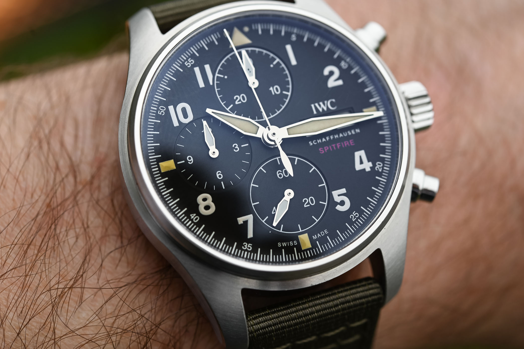 IWC Pilot's Watch Chronograph Spitfire Steel 41mm IW387901 - SIHH 2019 - 5