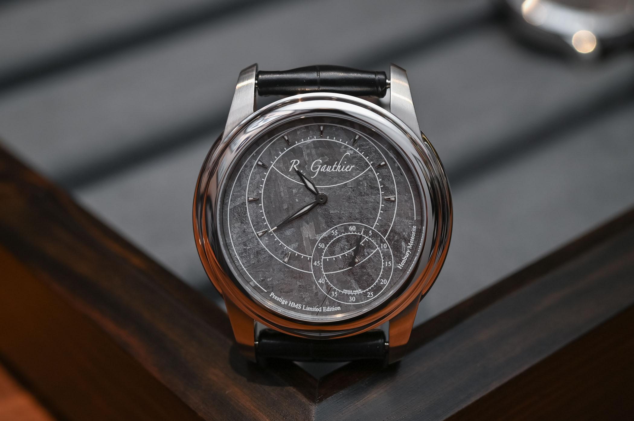 メテオライト(隕石)文字盤が美しいローマン ゴティエ プレステージHMS ステンレススチール限定モデル